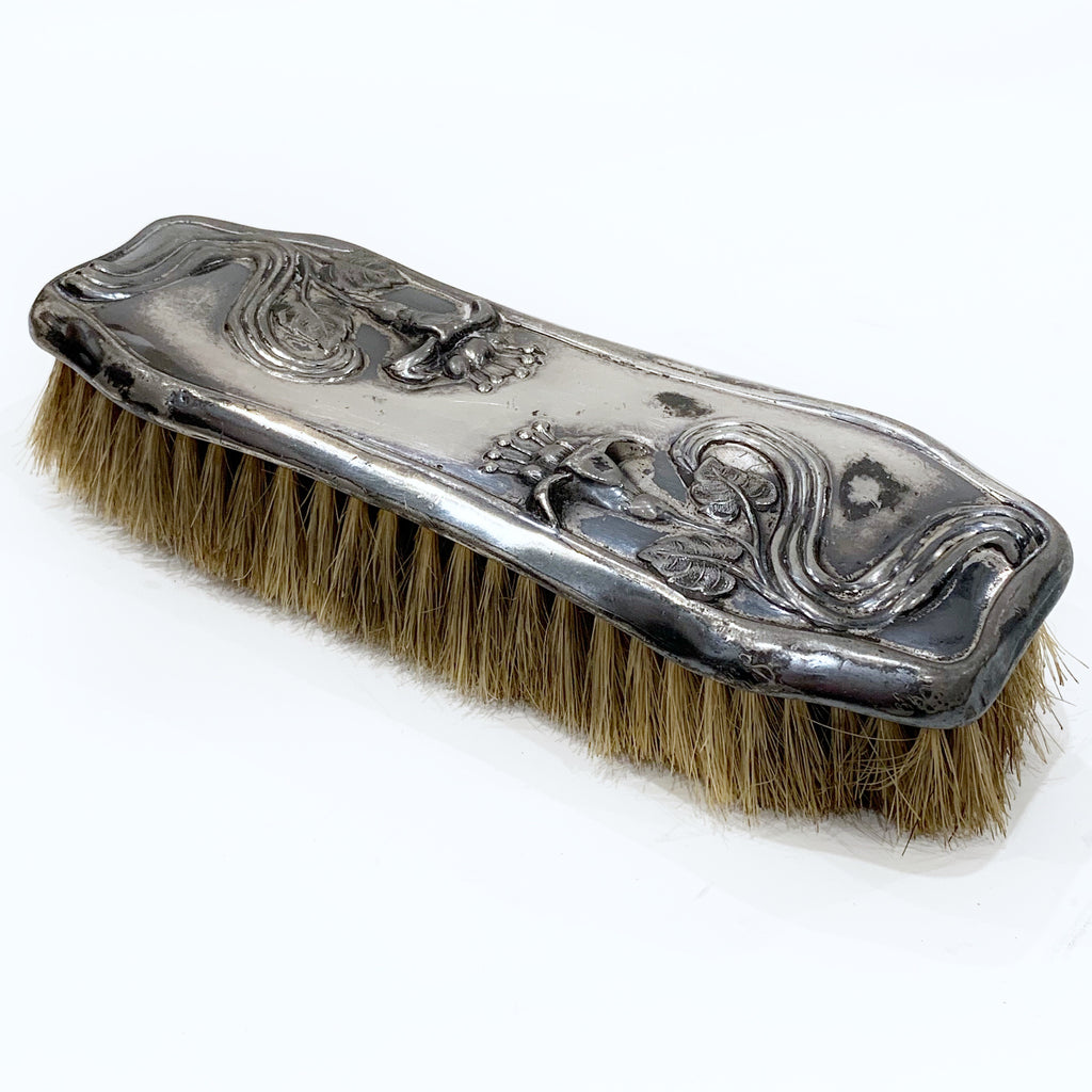 Estate Collection Silver Plate - Brush for Clothes Victorian