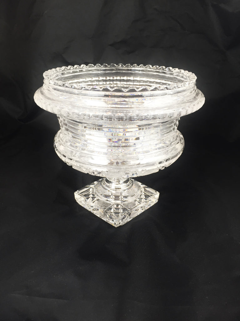 19th C. Antique Irish Crystal Heavy Urn