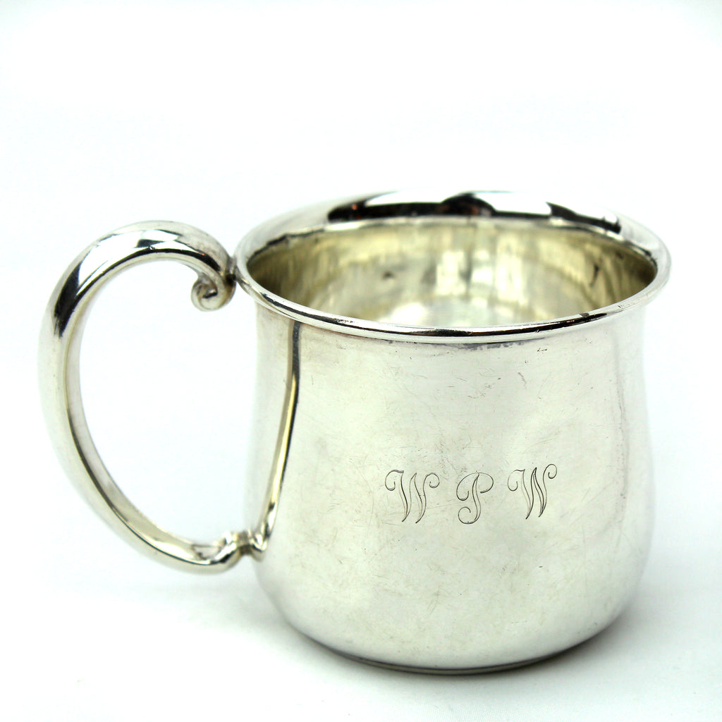 "Estate Collection Sterling - Mug Baby with Flared Rim & Mono ""WPW"""