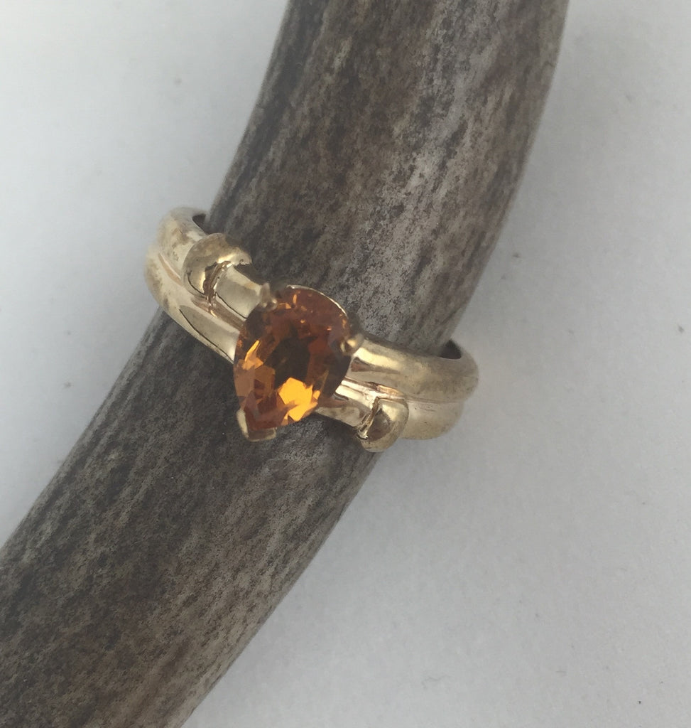 Estate Collection Citrine Pear Shape 9ct Gold