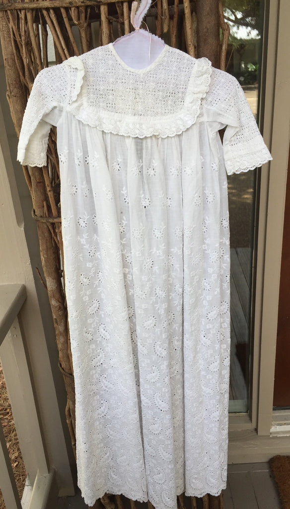 Estate Collection Christening Gown - Vintage Pure White