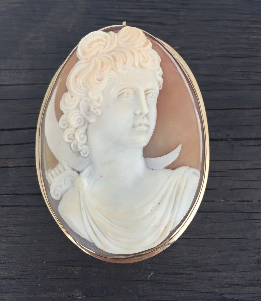 Estate Collection 14 K Yellow Gold Antique Cameo Appraised at $2500