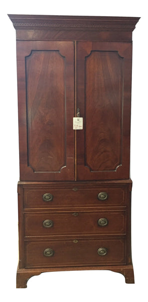Estate Collection Linen Press - Antique English