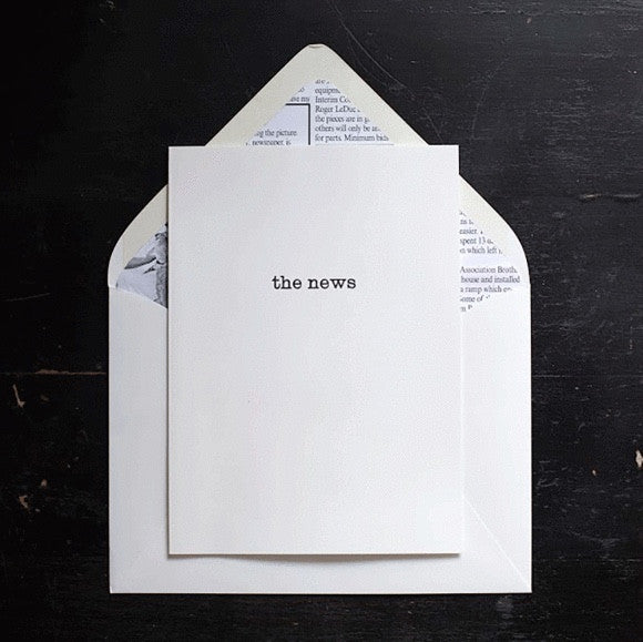 Note Cards - The News Folded Notes