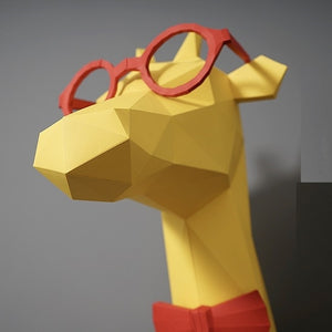 3D Paper Model Giraffe Papercraft