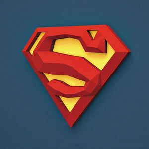 3D Paper Model Superman Logo