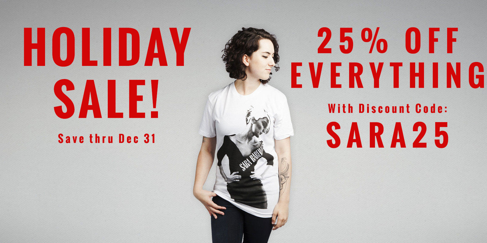 Sara Bareilles Holiday Sale