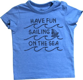 "Kurzarmshirt ""Have fun sailing on the sea"""