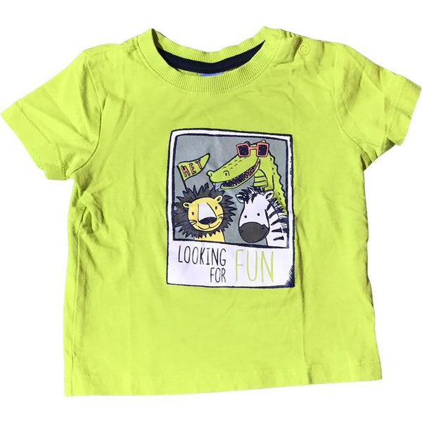"Kurzarmshirt ""Looking for fun"" - Emily's Wunderlädchen Baby- und Kindersecondhand"