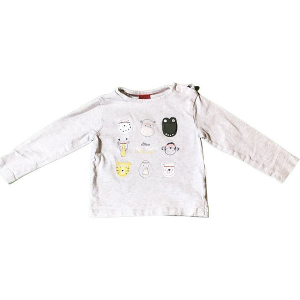 "Langarmshirt ""Best team in the world"" - Emily's Wunderlädchen Baby- und Kindersecondhand"