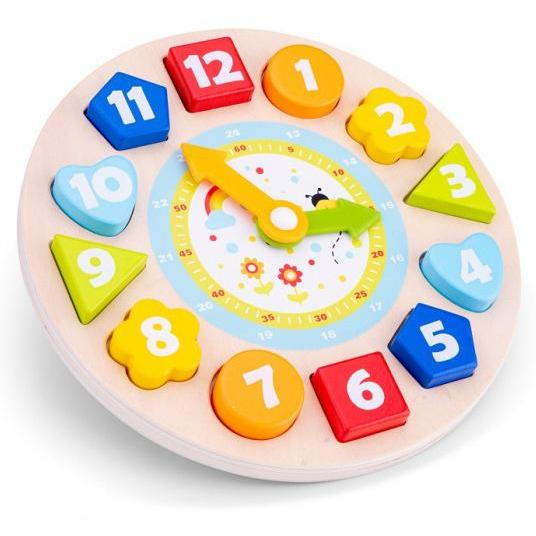 New Classic Toys Puzzle-Uhr Educational22 X 22 Cm Holz 4-Teilig - Emily's Wunderlädchen Baby- und Kindersecondhand