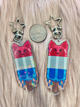 Load image into Gallery viewer, Bomb Fox Holo Keychain