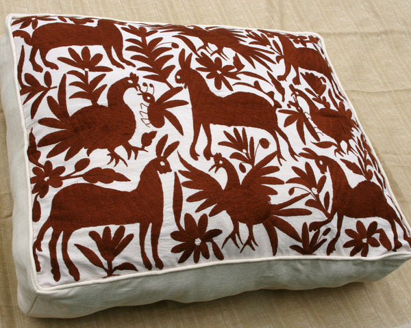 Espresso Brown Otomi Pouf  Gorgeous and ready to Ship