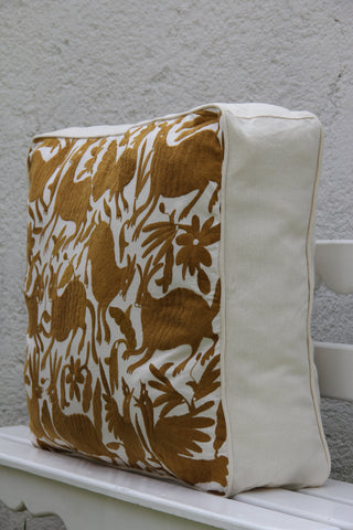 Summer gold Otomi Pouf  Gorgeous and ready to Ship
