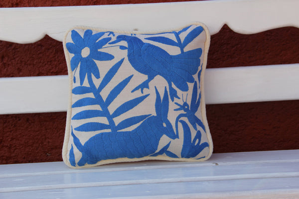 Blue colored  Otomi Pillow Sham-Ready to ship