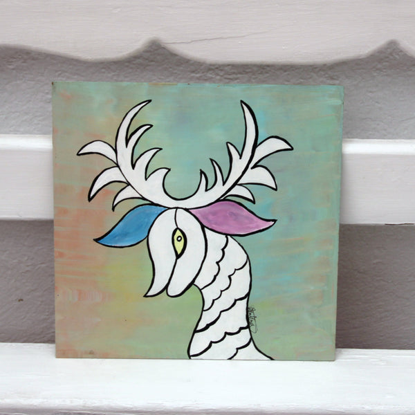 Otomi Critter Folk Art Original Oil Painting