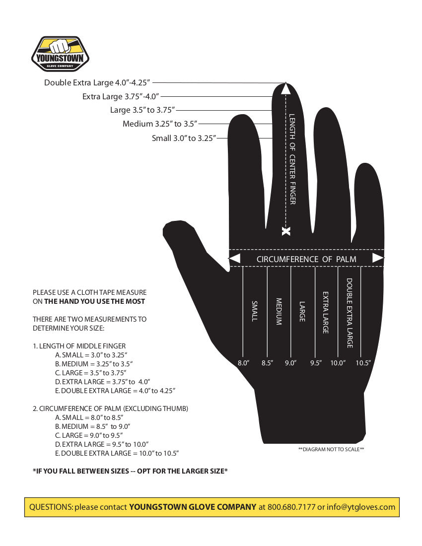 Youngstown Glove Size Chart