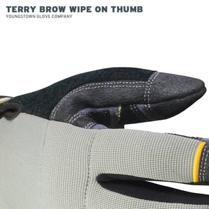 05-3080-70 Youngstown Cut-Resistant General Utility Glove - Terry Brow Wipe on Thumb