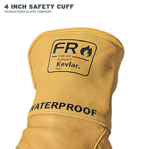 11-3285-60 Youngstown FR Waterproof Leather Utility Glove - Superior Dexterity