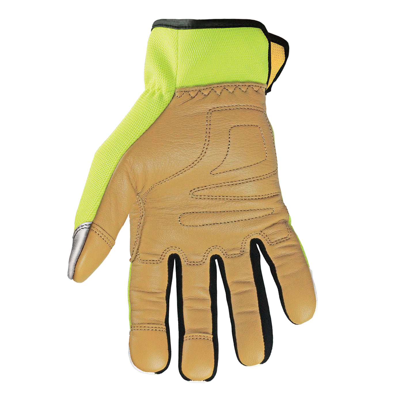 12-3190-10 Youngstown Cut Resistant Safety Lime Hybrid Glove - Main image