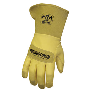 12-3275-60 Youngstown FR Leather Utility Wide Cuff Glove - Safety Cuff