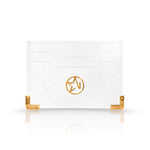 JOSH HAYES LONDON Louis Card Holder in White Python for Men and Women