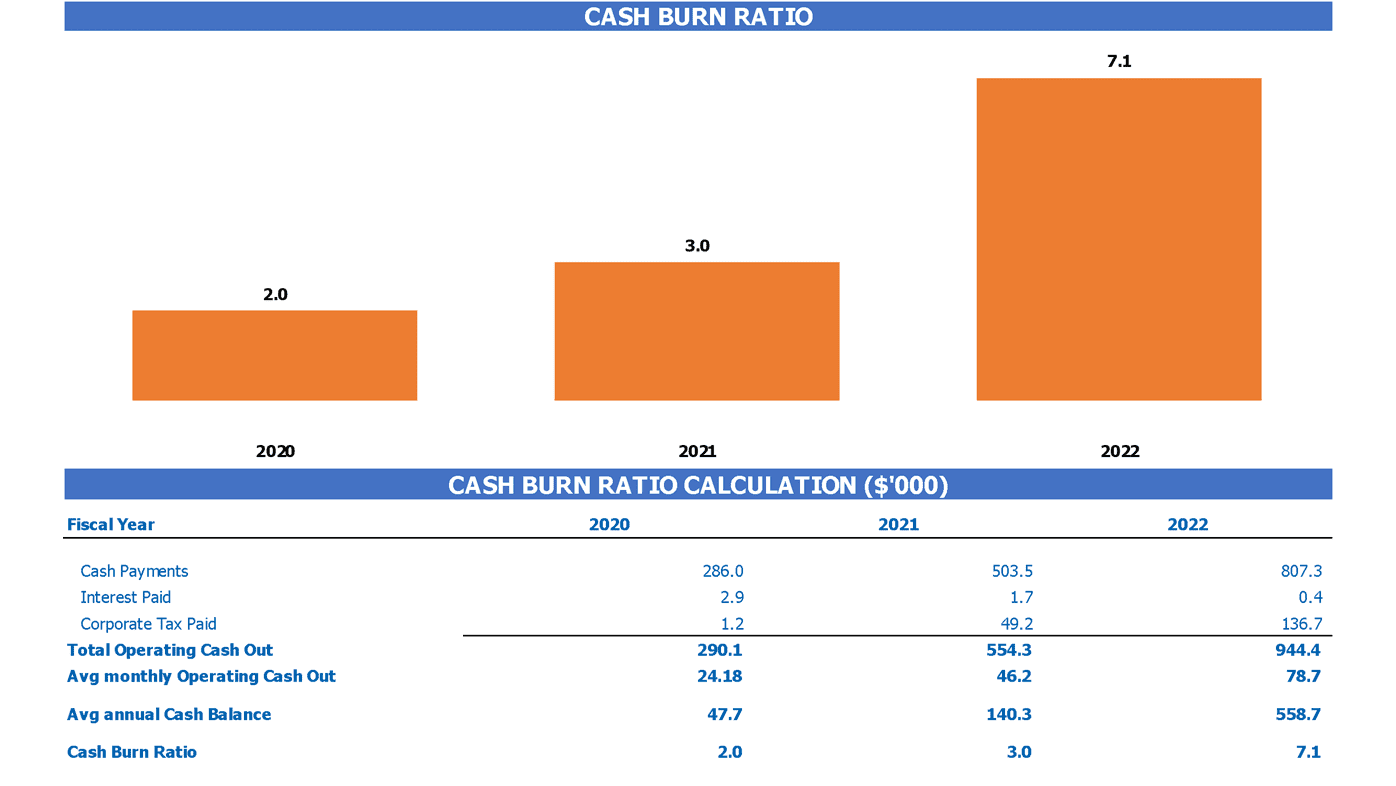 Consumer To Businesss E Commerce Financial Model Burn Rate Analysis