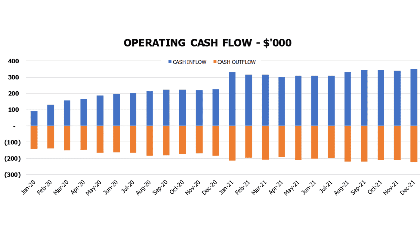 Consulting Agency Cash Flow Projection Excel Template Financial Charts Cash Flow