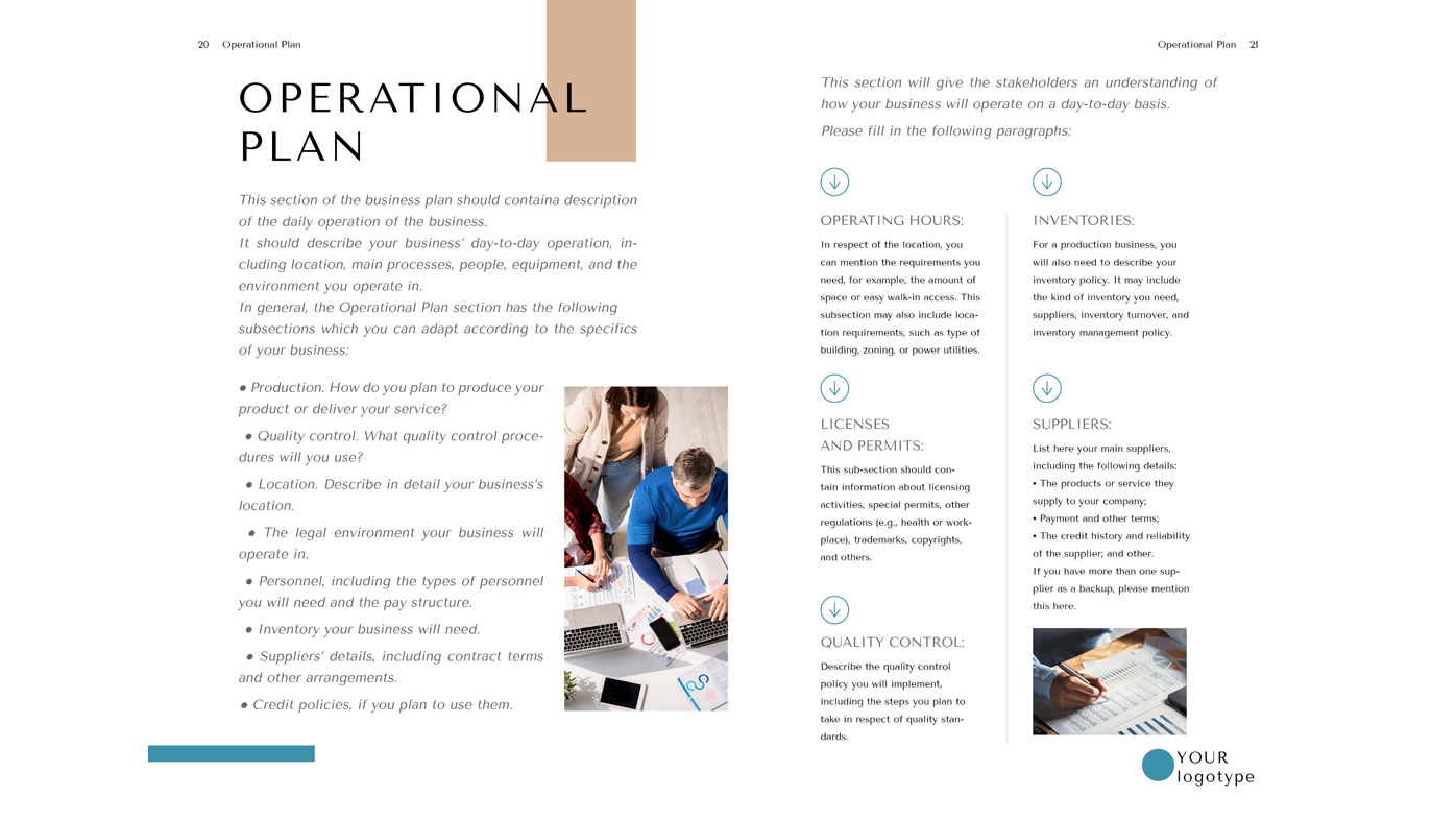 Tailor Business Plan Template Word Doc Operational Plan