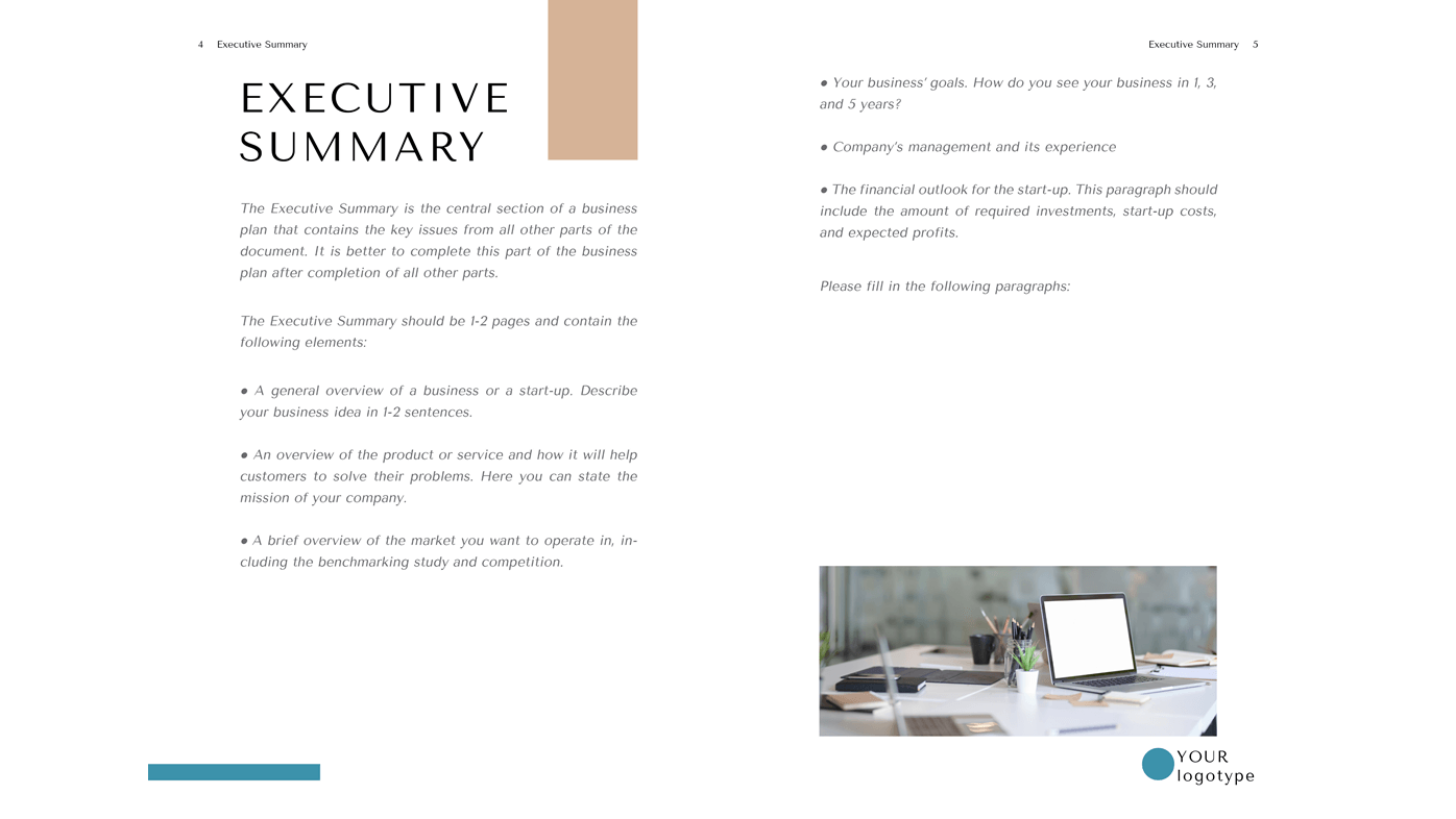 Bistro Business Plan Doc Executive Summary