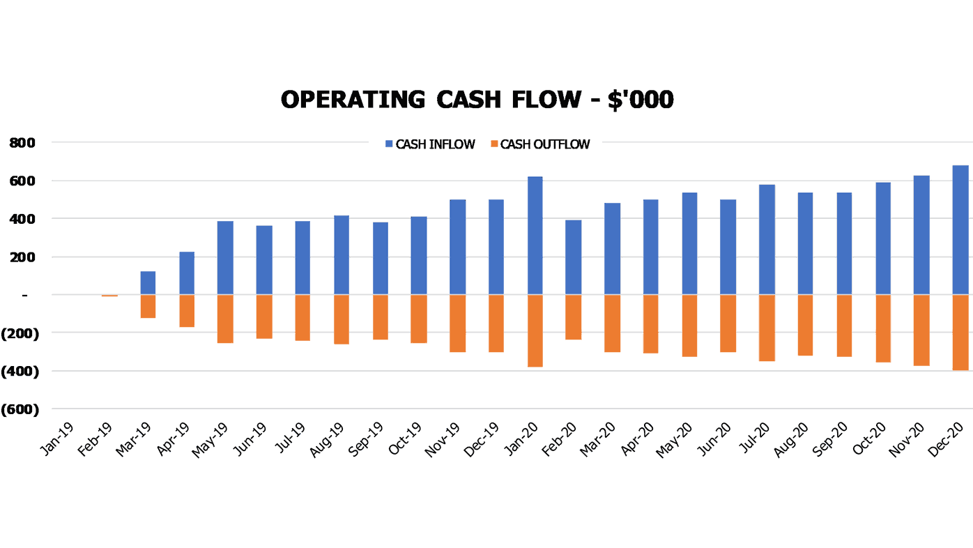 Clothing Boutique Cash Flow Projection Excel Template Financial Charts Cash Flow