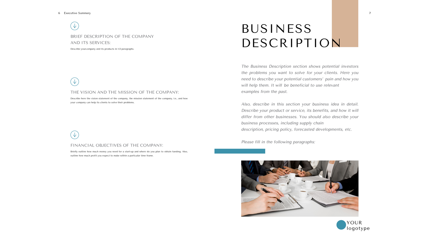 Restaurant Business Plan Layout Business Description