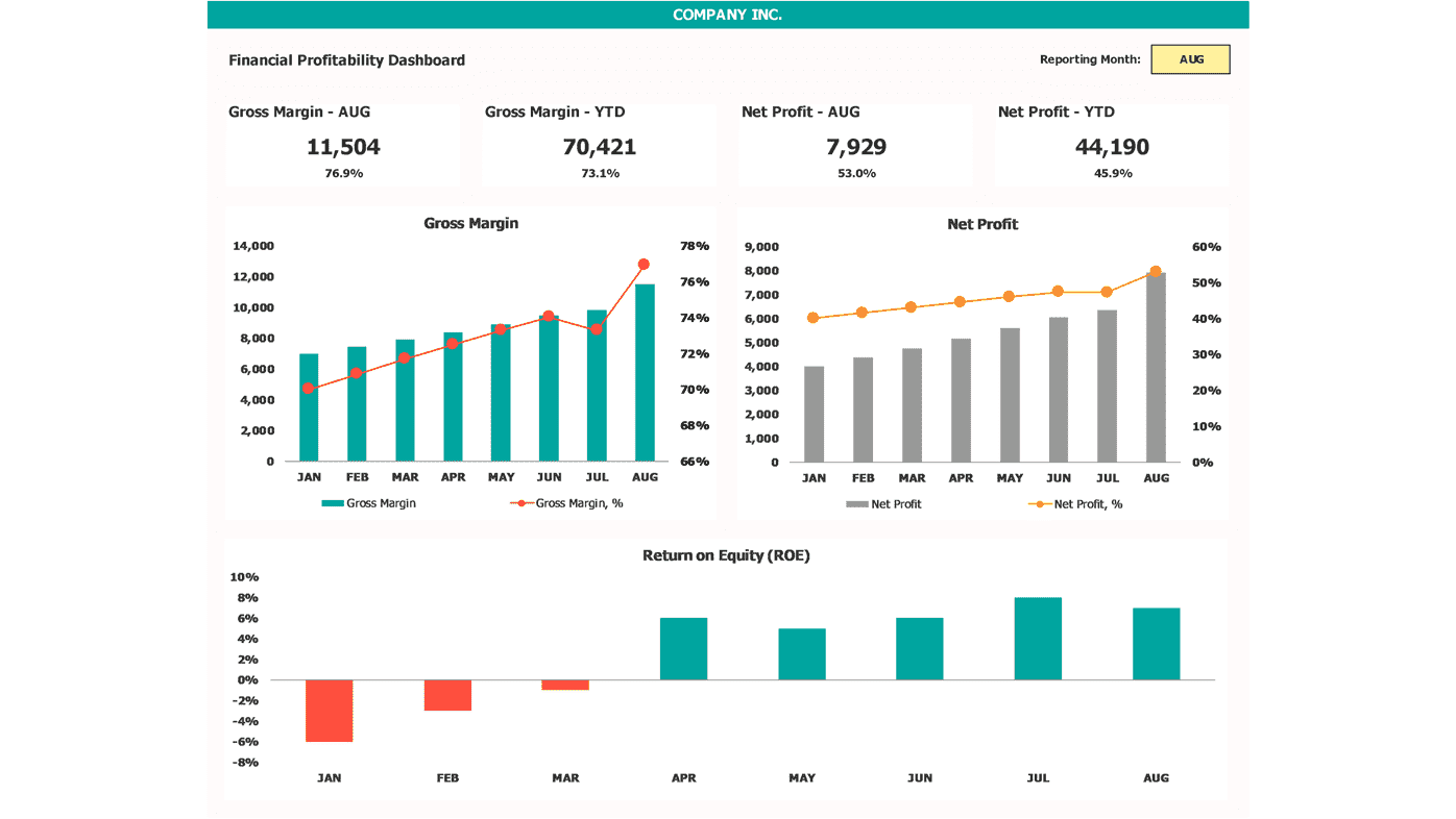 Financial Dashboard Profitability