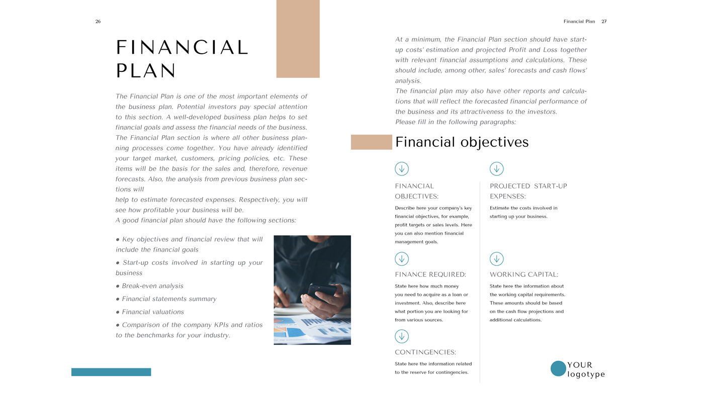Tailor Business Plan Template Word Doc Financial Plan A