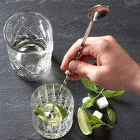 "Premium Bar Stirrer Spoon Twisted with Muddler top, Long Spoon, Cocktail Mixing Spoon, Long Handle Stirring Spoon, Stainless Steel Cocktail Spoon, Bar Cocktail Shaker Spoon 11"" Length"