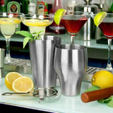 Martini Drink Mixer - Professional barware Bartender Tool - for Alcohol Drinks. French Stainless Steel Boston Shaker, Cocktail Shaker 500 ml