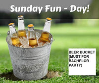 Beer Bucket, Galvanized Beer Bucket Built-in Bottle Opener, Party Bucket, Ice Bucket, Wine Bucket, Bar Bucket