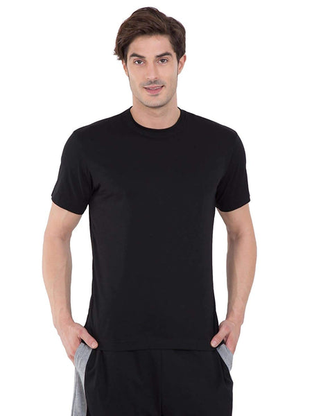 Pure Cotton Solid Men Round Neck T-Shirt