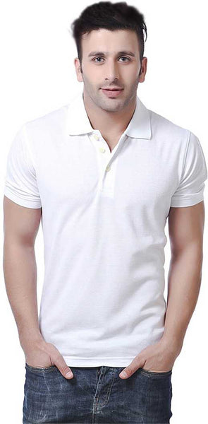 Regular fit Solid Polo Neck T-Shirt for Men