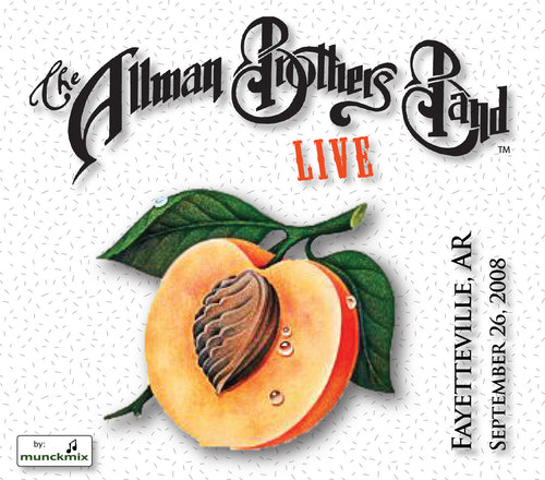 The Allman Brothers Band: 2008-09-26 Live at Bikers, Blues, & BBQ, Fayetteville, AR, September 26, 2008