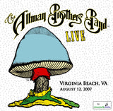 The Allman Brothers Band: 2007-08-12 Live at Verizon Amphitheatre, Virginia Beach VA, August 12, 2007