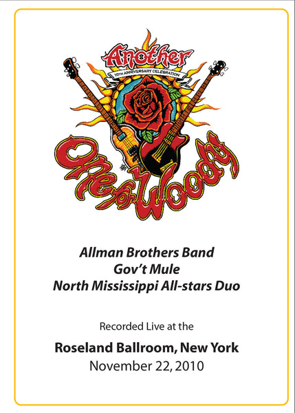 The Allman Brothers Band: 2010-11-22 Live at Another One For Woody Benefit Concert, New York, NY, November 22, 2010