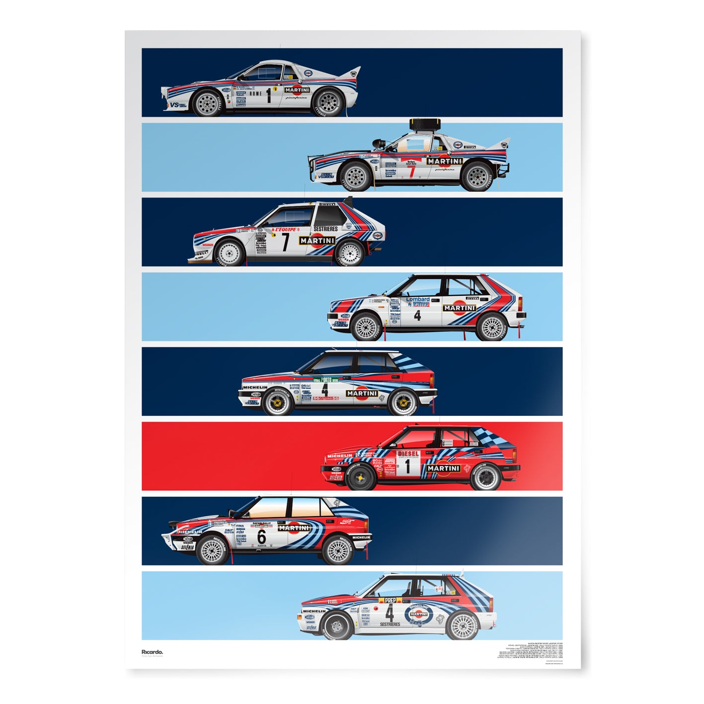 Lancia Martini Short Graphic Story