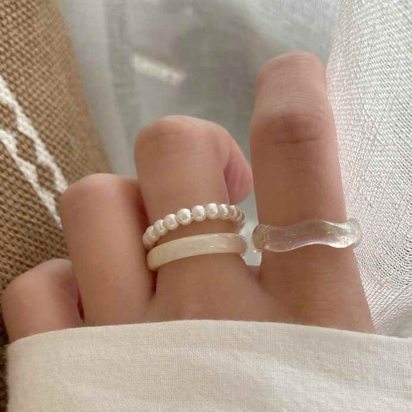 natural mix ring set myl417