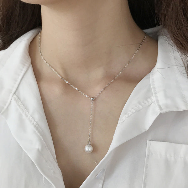 pearl drop necklace myl51