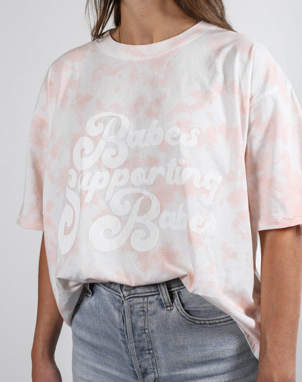 Babes Supporting Babes Boxy Tee - Pink Marble
