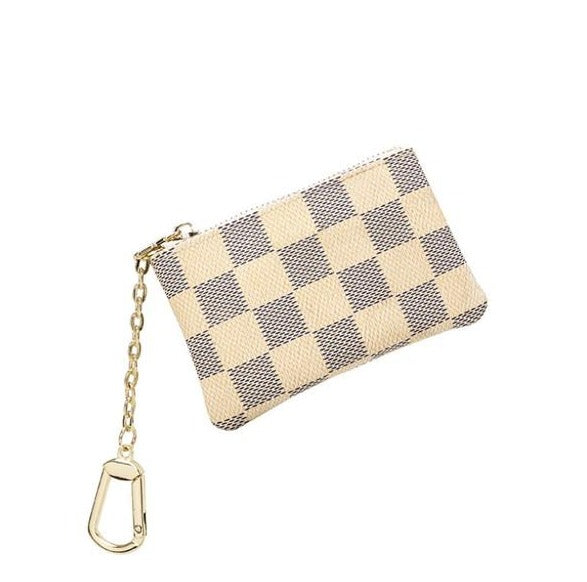 All Checked Out Mini Clip Pouch