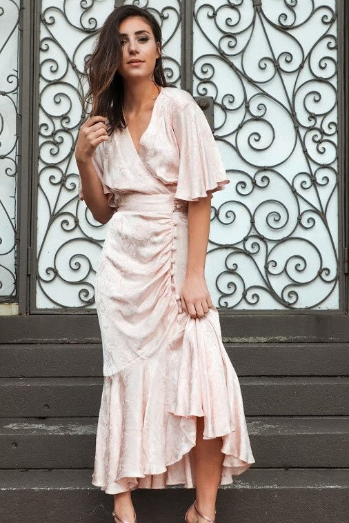 Pretty in Pink Silk Gown