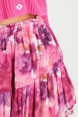 Ruffle Mini Skirt - Pre Dawn Sky