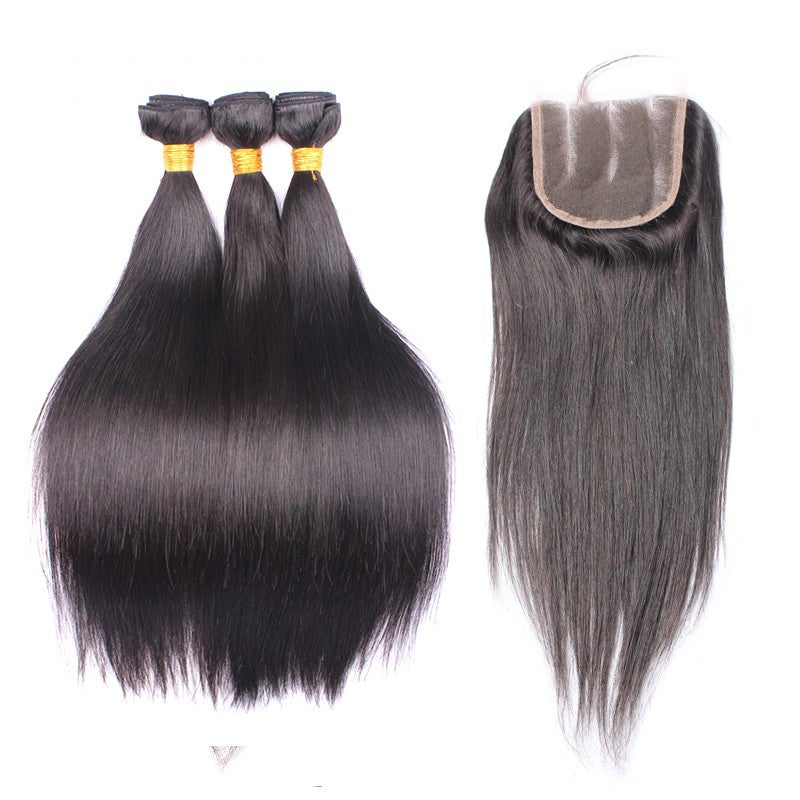 "10-14""Closure with 3 bundle deal (all hair textures)"